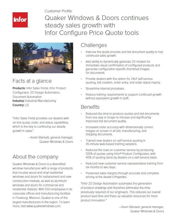 CPQ Customer Profile