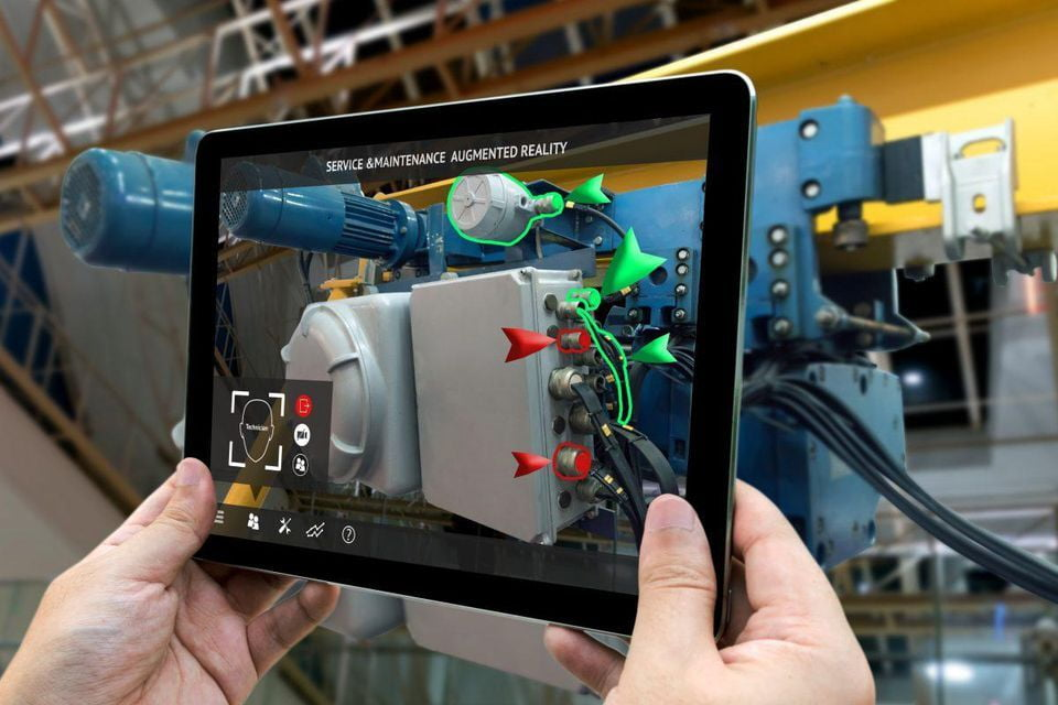 Augmented reality on a tablet