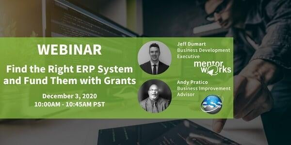 Webinar: Find the Right ERP System and Fund Them With the Right Grants